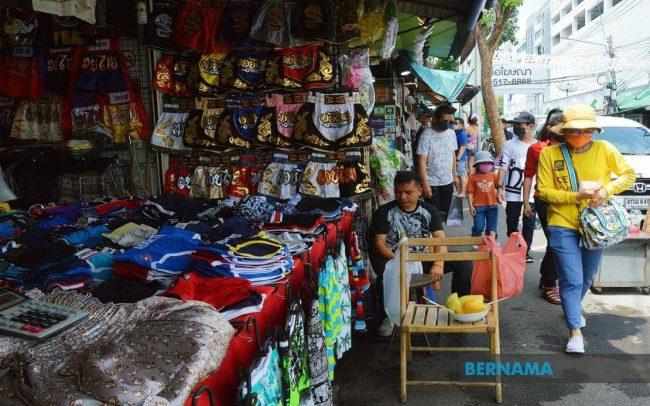 Một khu chợ ở Thái Lan.